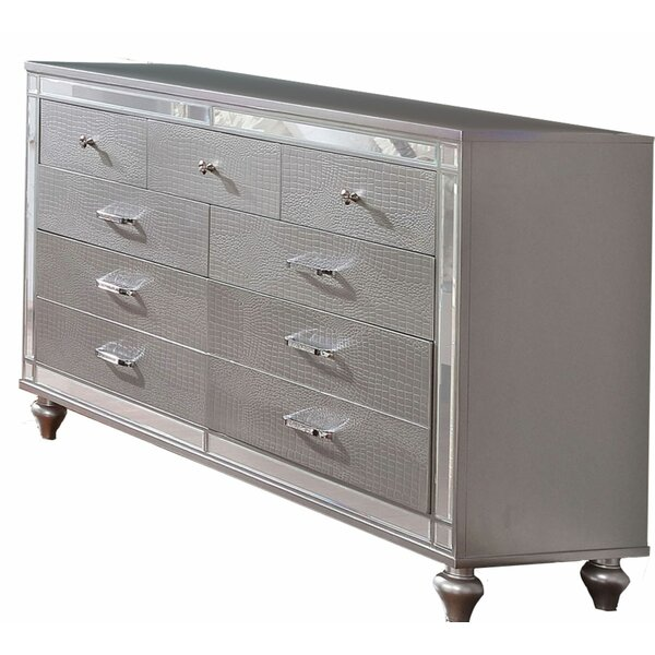 Lorie Wooden 9 Drawer Double Dresser by Mercer41