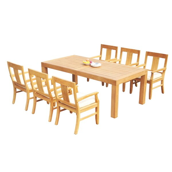 Louisiana 7 Piece Teak Dining Set by Rosecliff Heights
