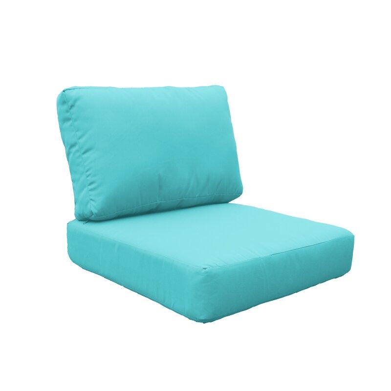 Sunbrella toile bleu marine intérieur//extérieur profond Siège Coussin De Chaise Coussin Set