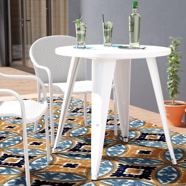 Pelzer Metal Bistro Table by Latitude Run