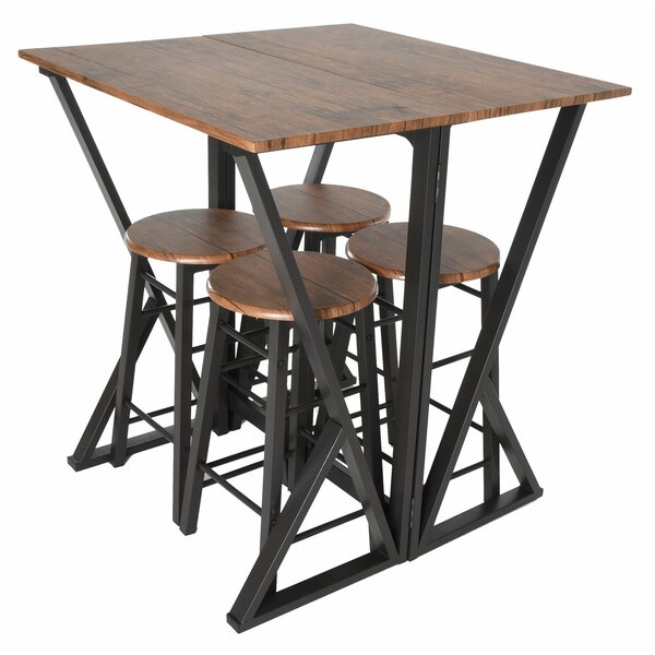 Maloney 5 Piece Pub Table Set by Williston Forge