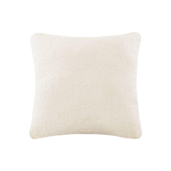 Aurelio Sherpa to Softspun Euro Pillow by Wrought Studio