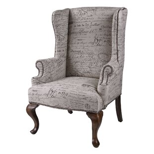 Compare prices Enno Wingback Chair By One Allium Way