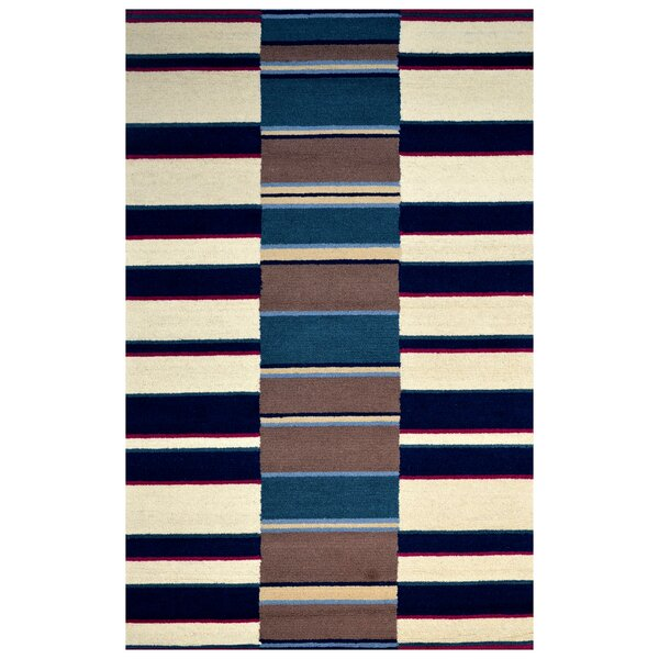 Wool Hand-Tufted Navy Blue/Ivory Area Rug by Eastern Weavers