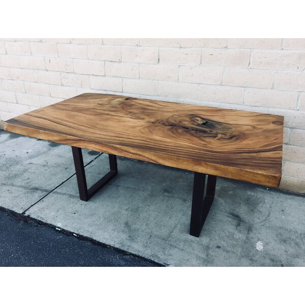 Dandre Natural Solid Wood Dining Table by Foundry Select