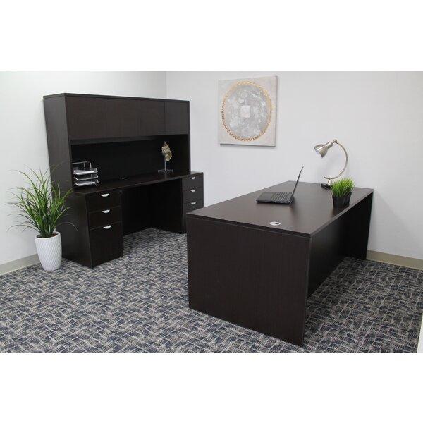 Contemporary 5 Piece Rectangle Desk Office Suite by Symple Stuff