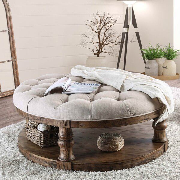 Amstel Farmhouse Tufted Coffee Table by Gracie Oaks