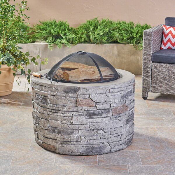 Sean Concrete Wood Burning Fire Pit by Freeport Park