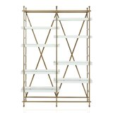 Yves Metal Etagere Bookcase byCosmoLiving by Cosmopolitan