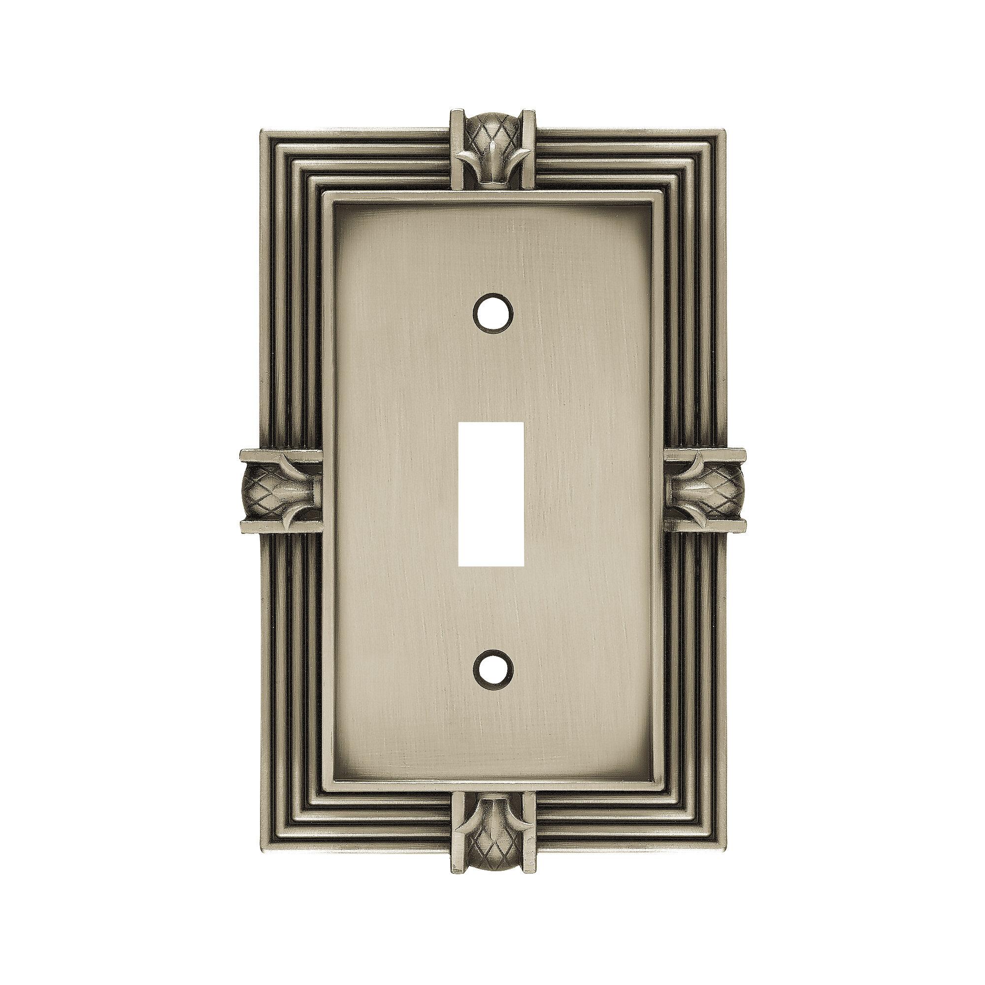 Pinele 1 Gang Toggle Light Switch Wall Plate