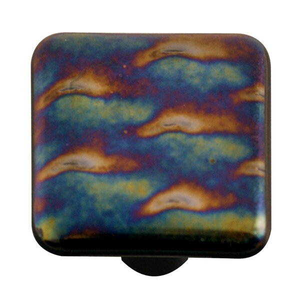 Metallic Square Knob by Aquila Art Glass
