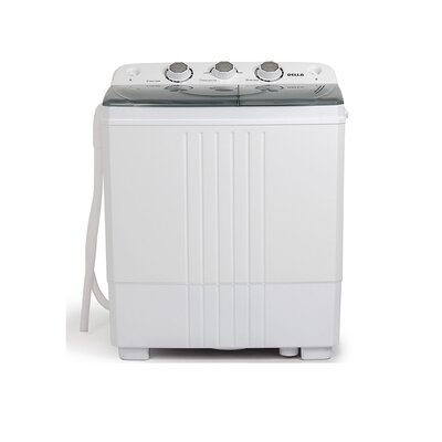 0.23 cu. ft. Portable Washer Della Color: White