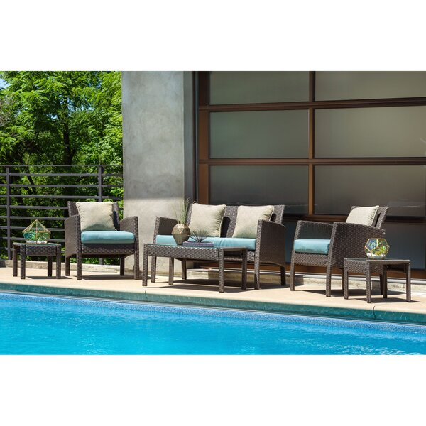 Sapphire 6 Piece Sofa Seating Group with Cushions by Alcott Hill