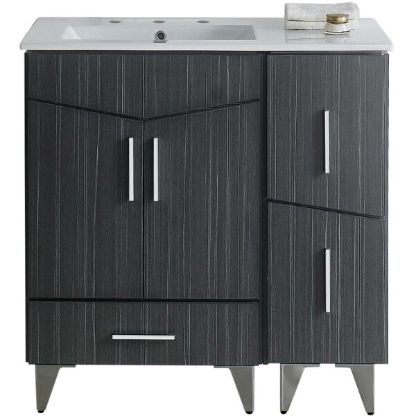 Kapp European Floor Mount 35.5 Single Bathroom Vanity Set by Royal Purple Bath Kitchen