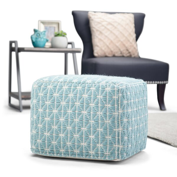 Tiffin Square Pouf by Bungalow Rose