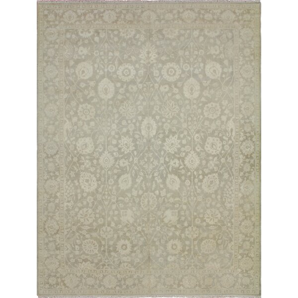 One-of-a-Kind Romona Faded Hand-Knotted Rectangle Gray Area Rug by Isabelline