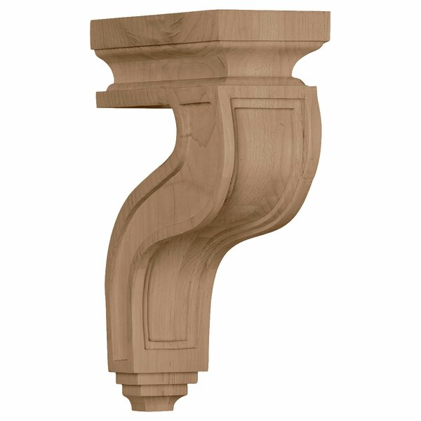 Hampshire 11H x 3 1/2W x 7 1/4D Hollow Back Corbel in Rubberwood by Ekena Millwork