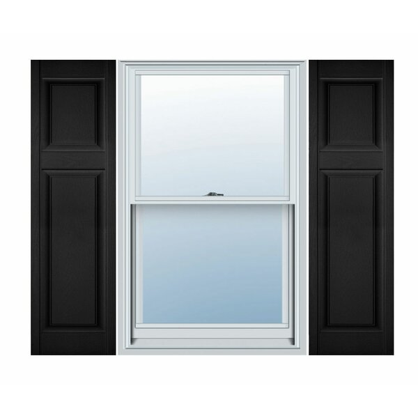 Vinyl Custom Offset Raised Panel Shutter (Set of 2) by Ekena Millwork