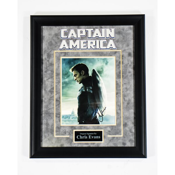 Captain America Custom Framed Autographed  Photograph by LuxeWest