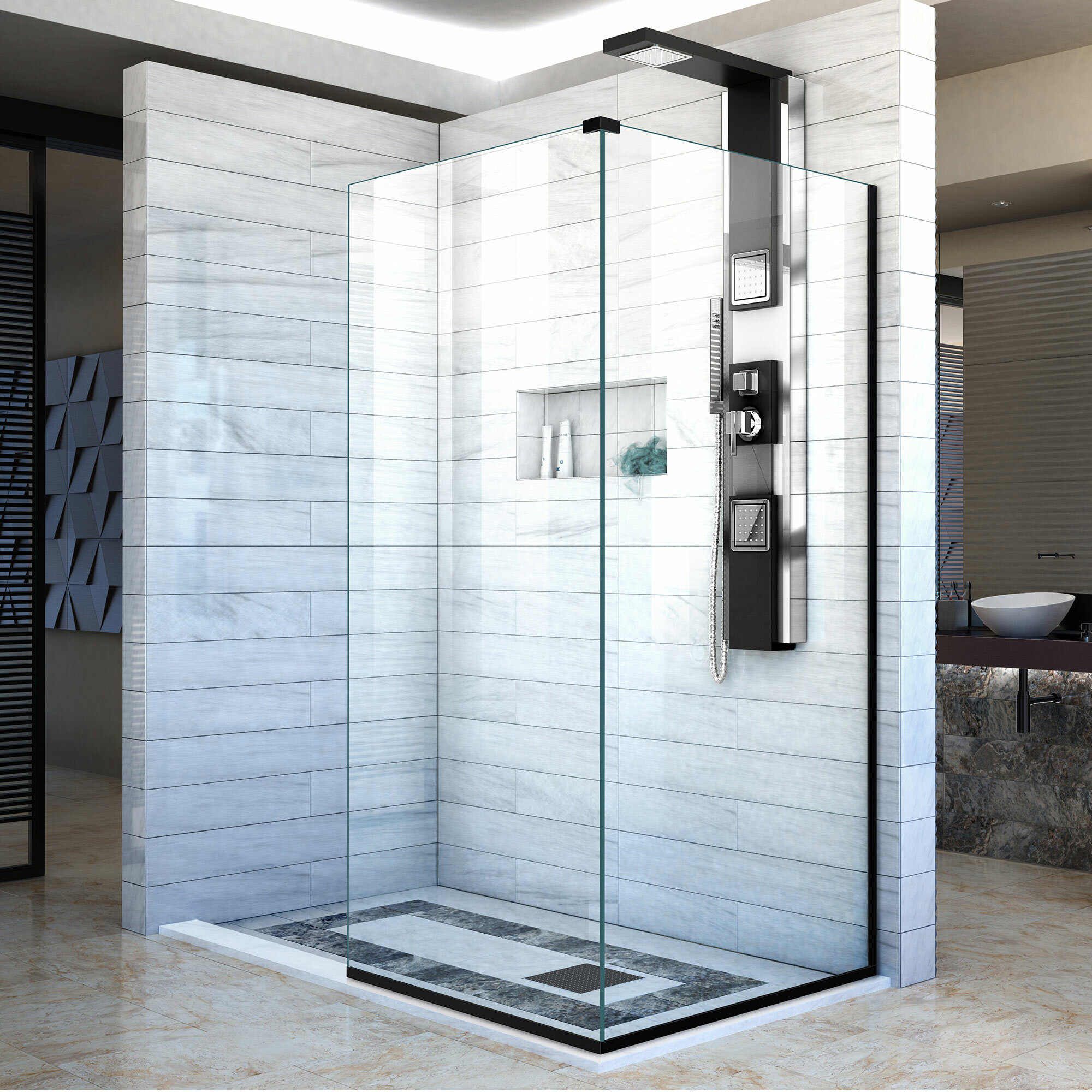 Linea 34 X 72 Frameless Shower Door With Clearmax Technology