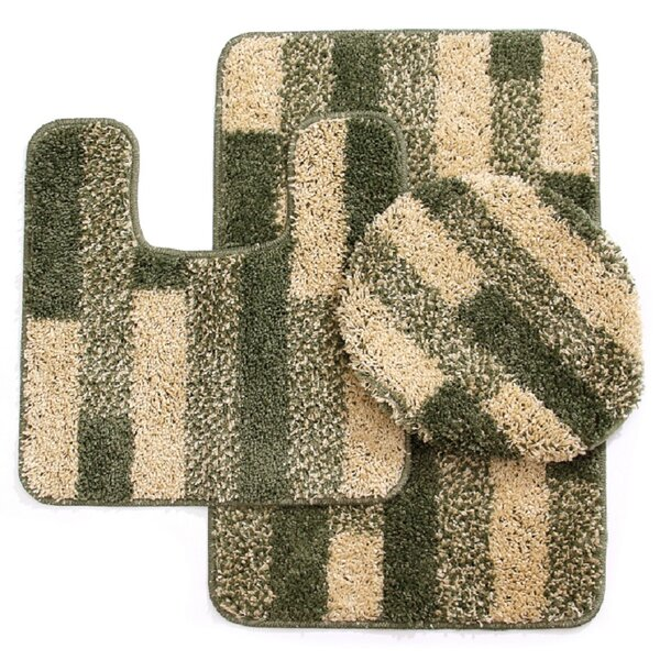 3 Piece Brick Bath Mat Set by Daniels Bath