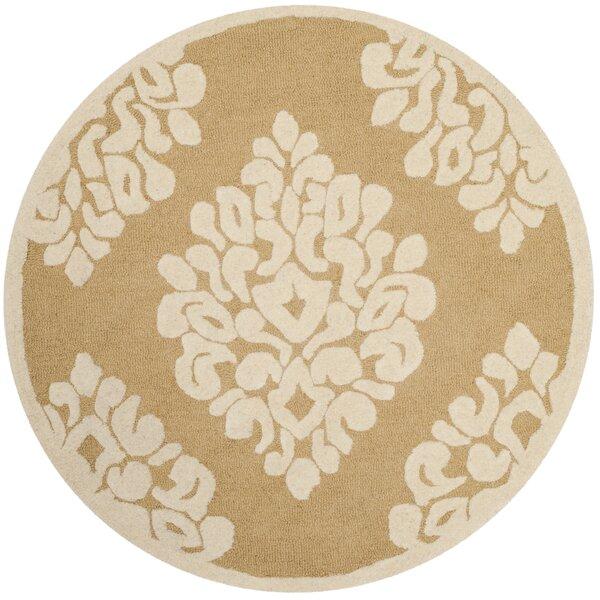 Floret Hand-Loomed Beige/Ivory Area Rug by Martha Stewart Rugs