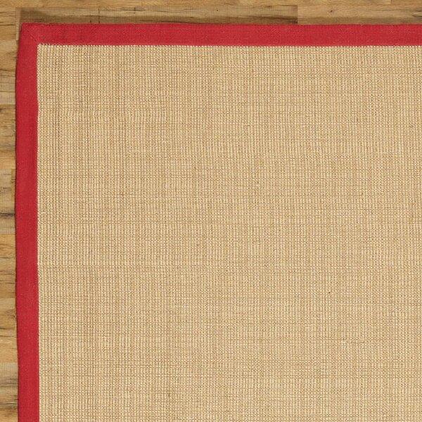 Sasha Hand-Woven Jute Red Area Rug by Birch Lane™