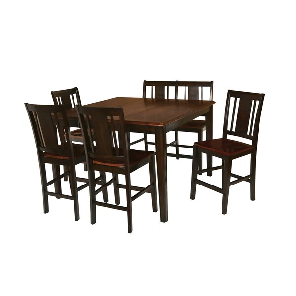 Dacosta Counter Height Solid Wood Dining Table by Winston Porter
