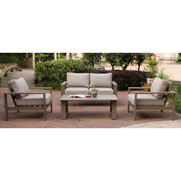 Otega 4 Piece Sofa Set with Cushions by Orren Ellis