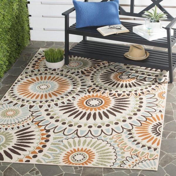 Caroline Indoor/Outdoor Rug in Chocolate by Safavieh