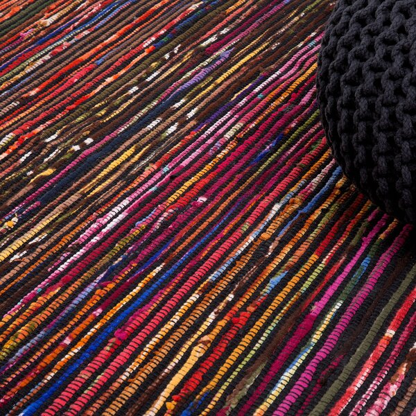 Bartin Handwoven Black/Purple Area Rug by Home Loft Concepts
