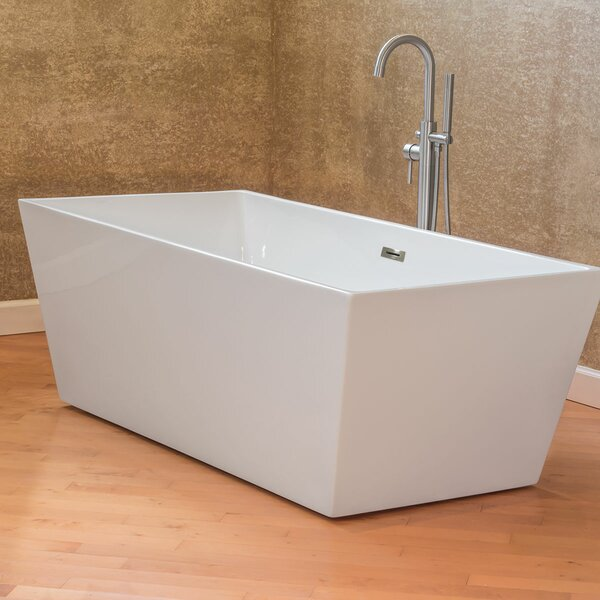 Freestanding 66.75 x 31.5 Bathtub by LessCare