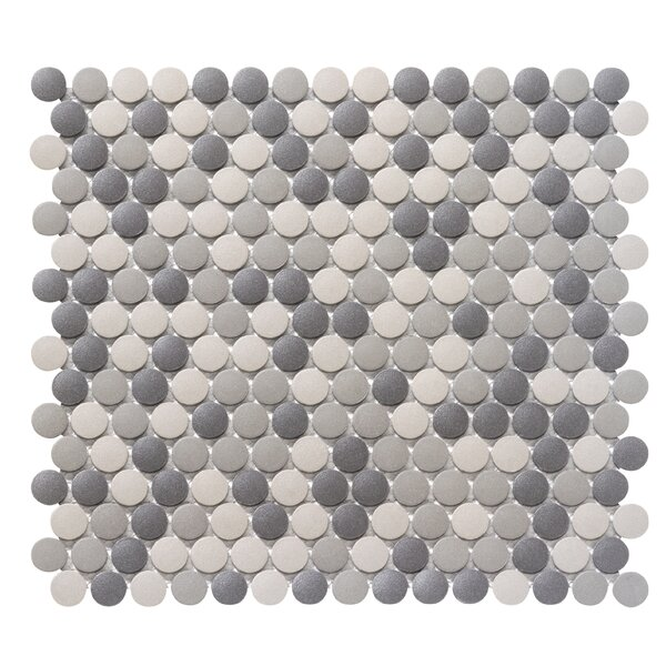 Zone 0.8 x 0.8 Porcelain Mosaic Tile in Dark Blend by Emser Tile