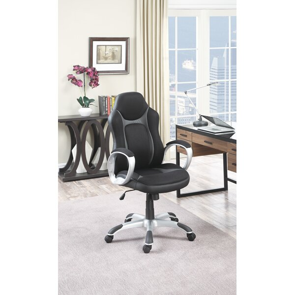 Kitterman Techno Inspired Adjustable Height Executive Chair by Symple Stuff