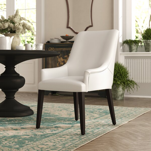 Cambell Genuine Leather Upholstered Dining Chair by Red Barrel Studio
