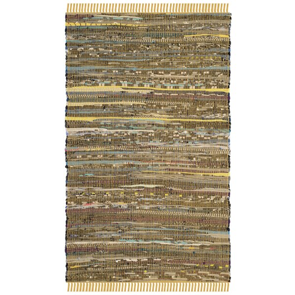 Nessadiou Hand-Woven Yellow/Multi Area Rug by Bungalow Rose