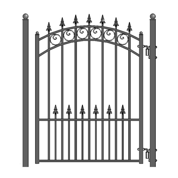 5.5 ft. H x 4.5 ft. W Prague Steel Pedestrian Gate by ALEKO