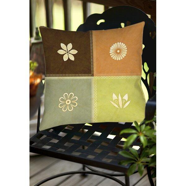 Graphic Garden Sage Indoor/Outdoor Throw Pillow by Manual Woodworkers & Weavers