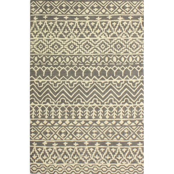 Lewiston Hand-Tufted Gray Area Rug by Gracie Oaks