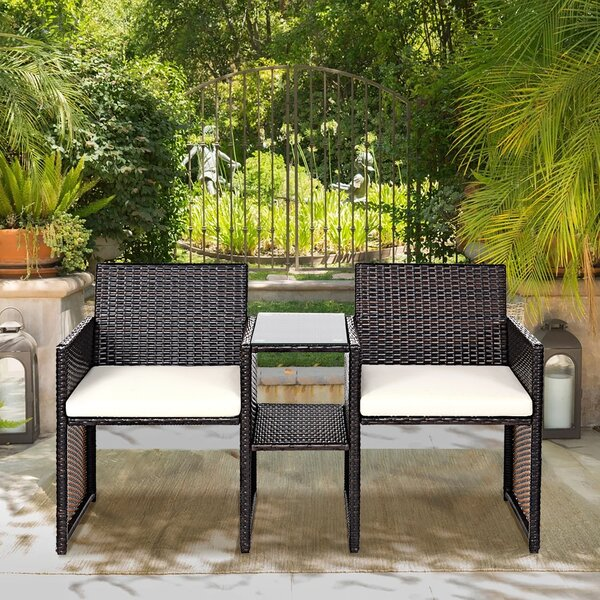 Arletha Rattan Seating Group with Cushions