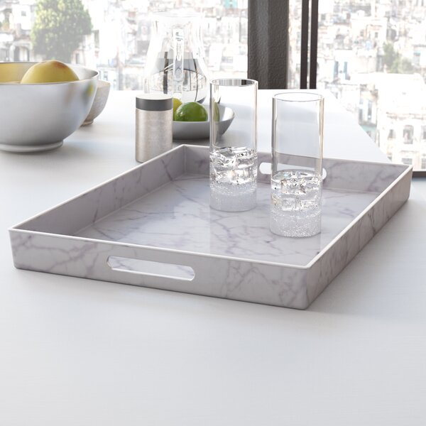 Mcmichael Accent Tray with Handle by Mercury Row