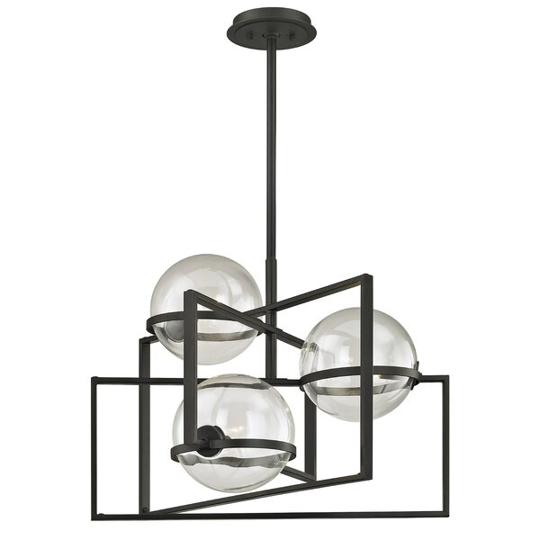 Rolla 3 - Light Shaded Geometric Chandelier By 17 Stories