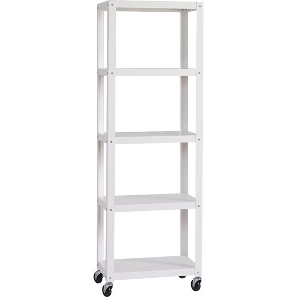 Industrial Modern Mobile Etagere Bookcase by Hirsh Industries