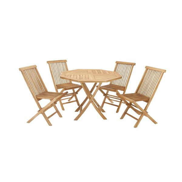 Teak 5 Piece Dining Set by Cole & Grey