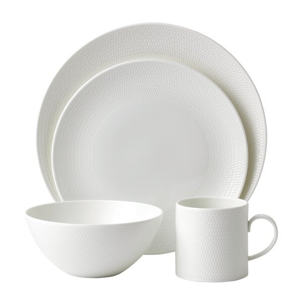 Gio 4 Piece Bone China Place Setting Set, Service for 1 by Wedgwood