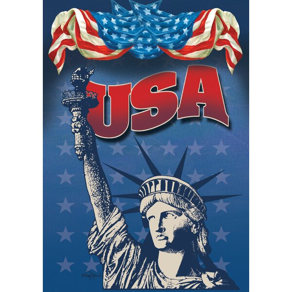 Lady Liberty 2-Sided Garden Flag by Toland Home Garden