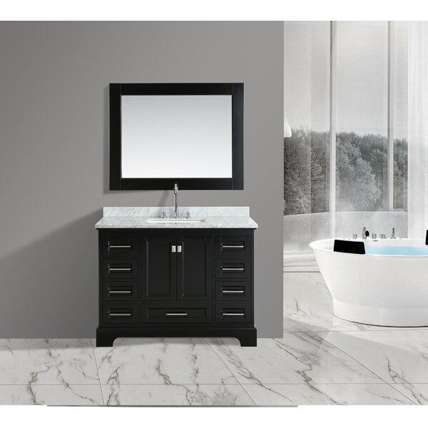 Saugatuck 48 Single Bathroom Vanity Set with Mirror by Orren Ellis