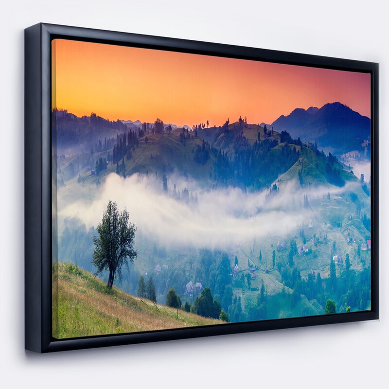East Urban Home \'\'Fantastic Blue Mountains Panorama\' Framed ...