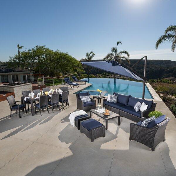 Northridge 20 Piece Rattan Sunbrella Complete Patio Set With Cushions By Three Posts by Three Posts 2020 Sale