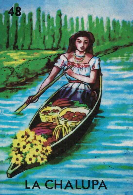 Ebern Designs La Chalupa Canoe Graphic Art Print On